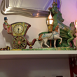 Maggie May Metal Cinderella Clock and Lamp