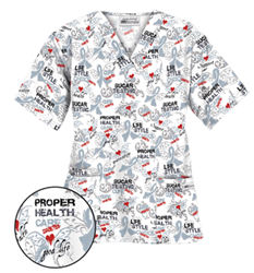 """In recognition of Diabetes Awareness, Uniform Advantage will donate $1 from the sale of each """"Diabetes Awareness White"""" print to the Action For Healthy Kids organization."""