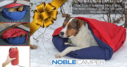 NobleCamper 2-in-1 Dog Bed & Sleeping Bag