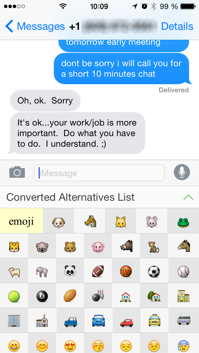 i phone4s how to add emojis to text