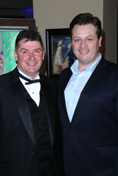 Founder and CEO of Wells of Life Nick Jordan and Wells of Life National Ambassador Anthony Kearns, World Renowned Tenor - Photo by Bob Delgadillo