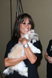 Belinda Stewart with her new puppy - Photo by Bob Delgadillo