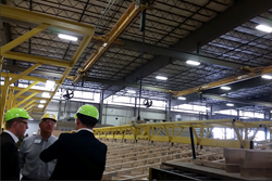 German researchers touring Clayton homebuilding facility
