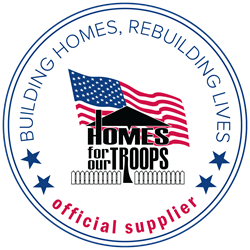 Budget Blinds and Home For Our Troops Partnership Logo