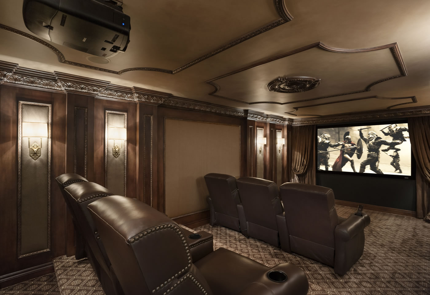 Home Theater Room Design Ideas Ceiling Design Hall Big Interior   Home  Theatre Interiors