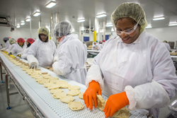 Sandwich assembly on the line at SK Food Group, Columbus, OH