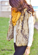 Faux Fur Vest and Scarf for a fashionable Cold Weather Look from Apricot Lane