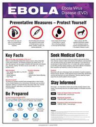 Accuform Signs Informative Ebola Virus Poster