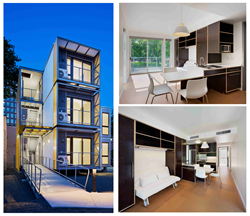 Mark Line's Post Disaster Housing Prototype Named MBI's November Building of the Month. Photos courtesy of Archphoto.