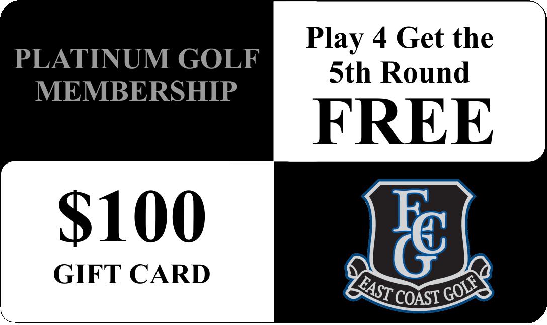 Myrtle Beach Platinum Golf Card