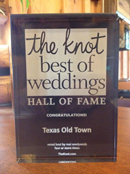 Texas Old Town Inducted into the 2014 The Knot Best of Weddings Hall of Fame