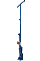 15' Telescoping Light Mast for Deploying Lights, Cameras, and other Electrical Equipment