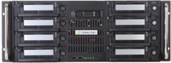 A rackmount 8-bay Backup Appliance with removable hard disks