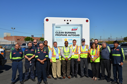 Nestlé Waters North America unveiled five medium-duty beverage trucks fueled by clean-operating propane autogas. Representatives from Nestlé Waters and ROUSH CleanTech were on hand for the ceremony.