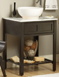 """Parsons 24"""" Bathroom Vanity With Open Shelf pa2421 from Sagehill Designs"""