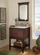 "Allure 24"" Bathroom Vanity With Open Shelf al2421 from Sagehill Designs"