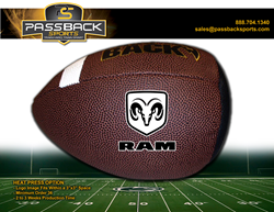 Randomly-selected fans received their very own Passback Football emblazoned with the Dodge Ram logo.