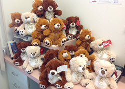 Eight San Diego SmileCare offices are accepting teddy bear donations to benefit sick children.