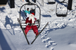 Santa skiing at Granby Ranch