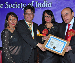 From left: Meena Shukla, Rahul Shukla,  Minister of Energy(UK) Baroness Mrs. Sandeep Verma & Mr. Gauhar Nawab
