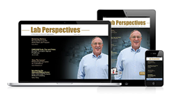 Digital magazine on a laptop, iPad and smartphone.
