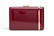 Jill Milan Laurel Canyon Clutch, burgundy & gold