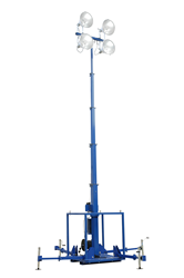 High Intensity Skid Mount Five Stage Electric Light Mast