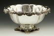 "19th century Tiffany and Company Makers center bowl, sterling silver, ""Chrysanthemum"" pattern"