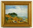 Granville Redmond (American, 1871-1935), California landscape, oil on board, signed