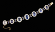 Exceptional diamond and sapphire bracelet, 14K gold