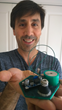 Mike Toutonghi, Functionalize's founder, CEO and chief scientist, with 3D printed electronically conductive circuit board