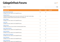 CollegeOnTrack Forums