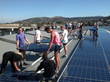 Installing solar panels at the Marin Rowing Association