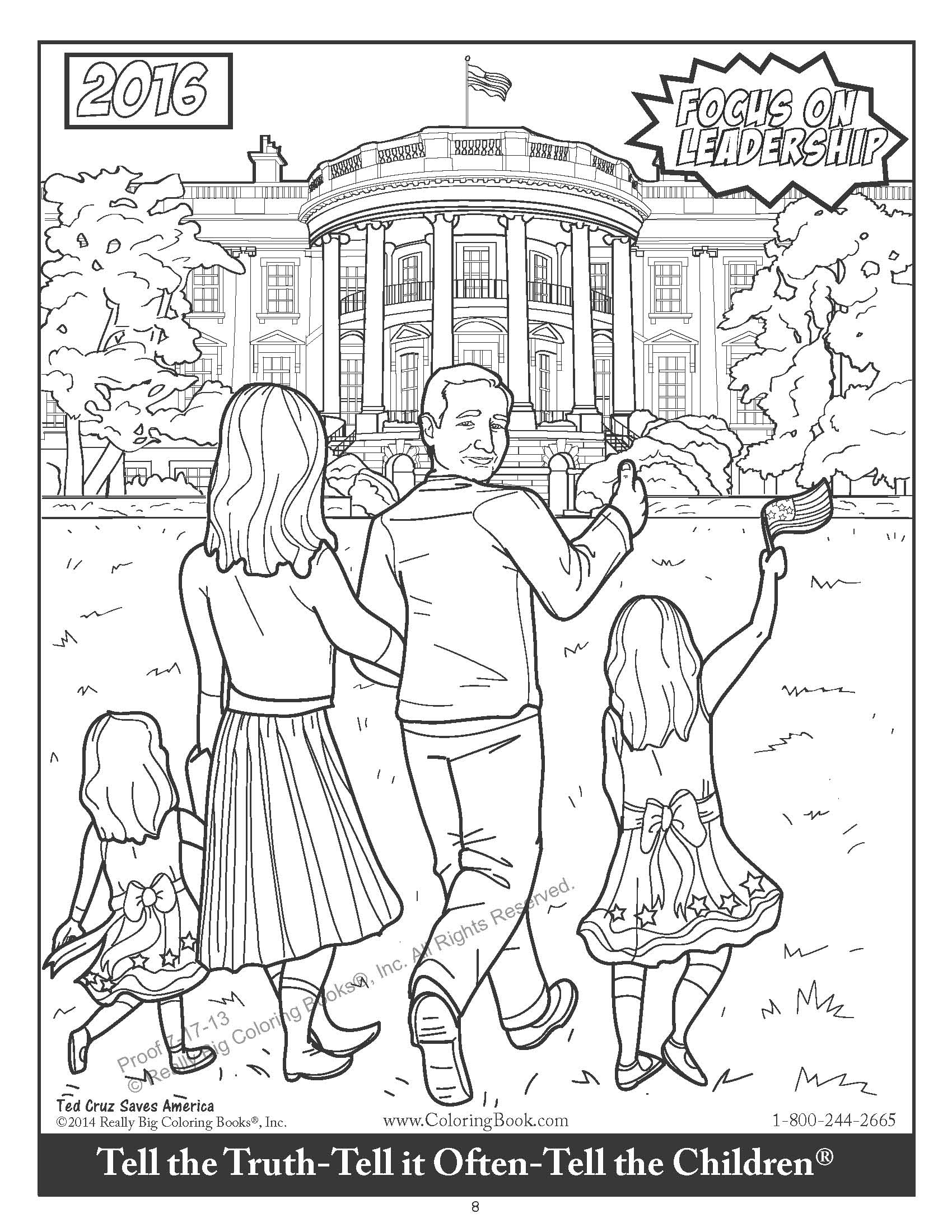 Ted Cruz Saves America Released by ColoringBook Back by