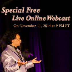 Live Webcast is going to be organized by Trivedi Master Wellness™ on November 11, 2014 at 9 PM ET.