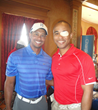 Tiger Woods and U.S. Army Captain James Văn Thạch