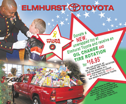 Elmhurst Toyota Toys for Tots Toy Drive