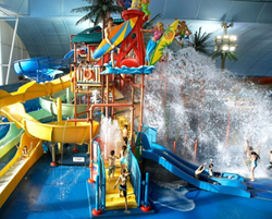 Waterslides at the Fallsview Indoor Waterpark.