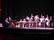 Rhythm in Blue Jazz ensemble on stage at The Beacon Theatre in Hopewell VA.