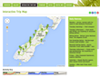 Interactive map for the Ultimate South Island Adventure 'Rimu' Trip