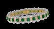 David Mor Diamond and Emerald Bracelet