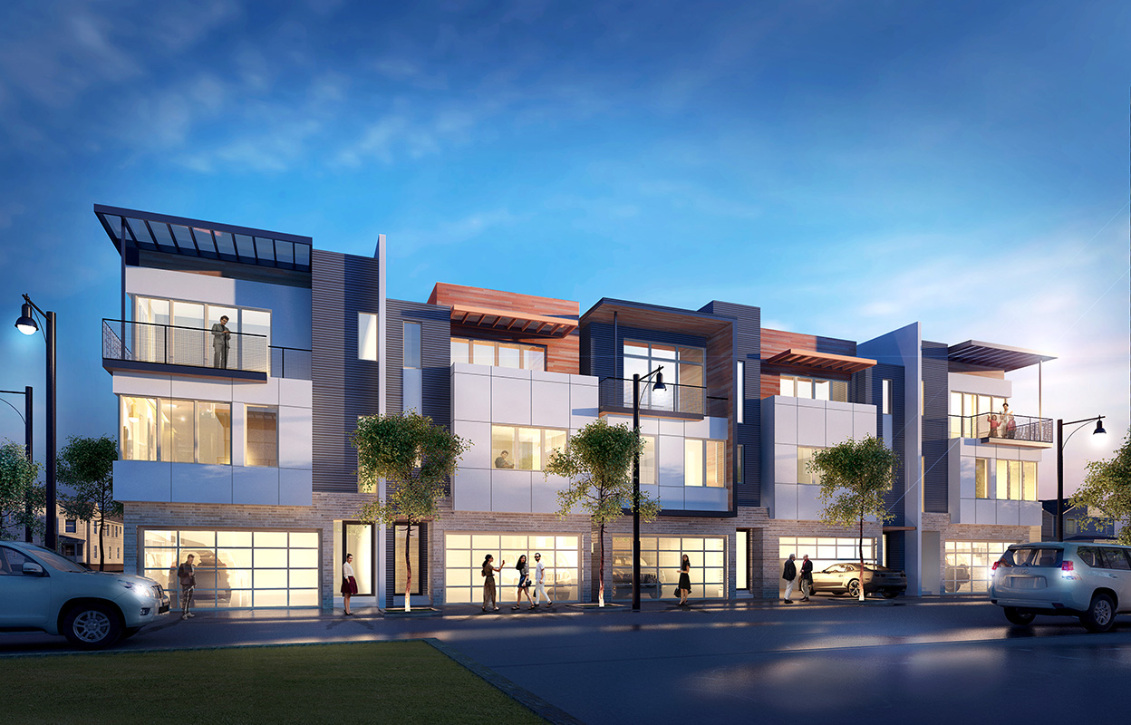 Surge homes is rising in america 39 s hottest real estate market for Modern townhomes