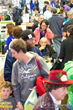 A crowd of attendees at the annual Albany VegFest taking place at the Polish Community Center November 15th, 2014.