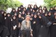 Rick Steves with Schoolgirls in Iran