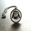 Are you a Dark Side Diva? Make a statement with this stunning black hematite Darth Vader necklace adorned with Swarovski crystals from the Her Universe Darth Vader jewelry collection.