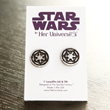 Show your allegiance to the Empire with these striking, black hematite Imperial stud earrings. Designed at The Sparkle Factory and Made in the USA, this designer collection is affordable luxury.