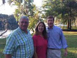 Don Quincey, Paige Brookins, and Florida Commissioner of Agriculture, Adam Putnam