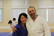 Head Instructor Sensei John Kammer of The Japanese Academy of Japanese Martial Arts and One of His Students