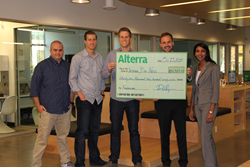 (L to R) Heath Avery (Dir. Of Ops, Alterra), Derrick Royce (CCO, Alterra), David Royce (CEO, Alterra), Chris Helfrich (Director, Nothing But Nets) & Kavita Sood (Senior Campaign Associate, Nothing But Nets)