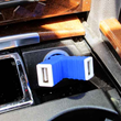 With 2 USB ports, you can charge two devices simultaneously in your car